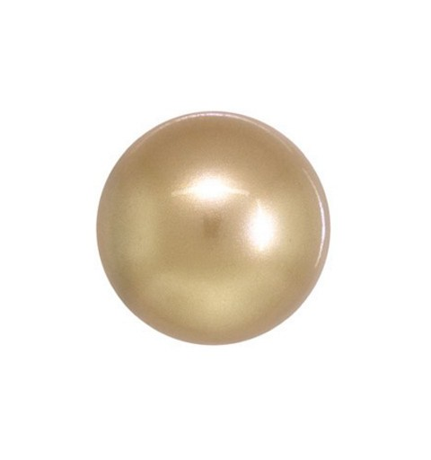 10MM Crystal Vintage Gold Round Half Drilled Pearl (001 651) 5818 SWAROVSKI ELEMENTS