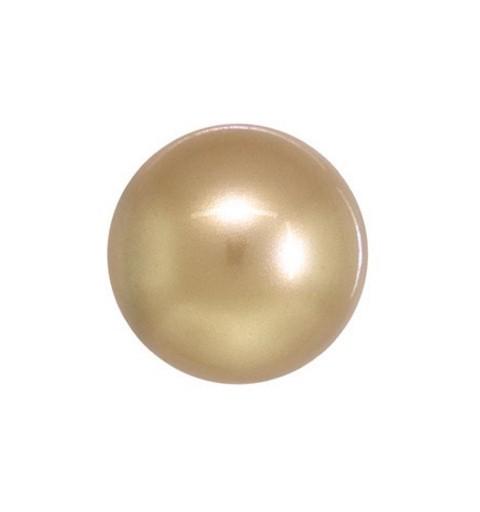 10MM Crystal Vintage Gold Ümmargune Pool Puuritud Pärl (001 651) 5818 SWAROVSKI ELEMENTS