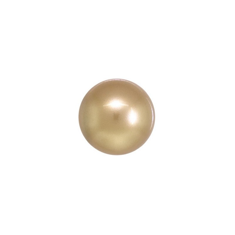 12MM Crystal Vintage Gold Round Half Drilled Pearl (001 651) 5818 SWAROVSKI ELEMENTS
