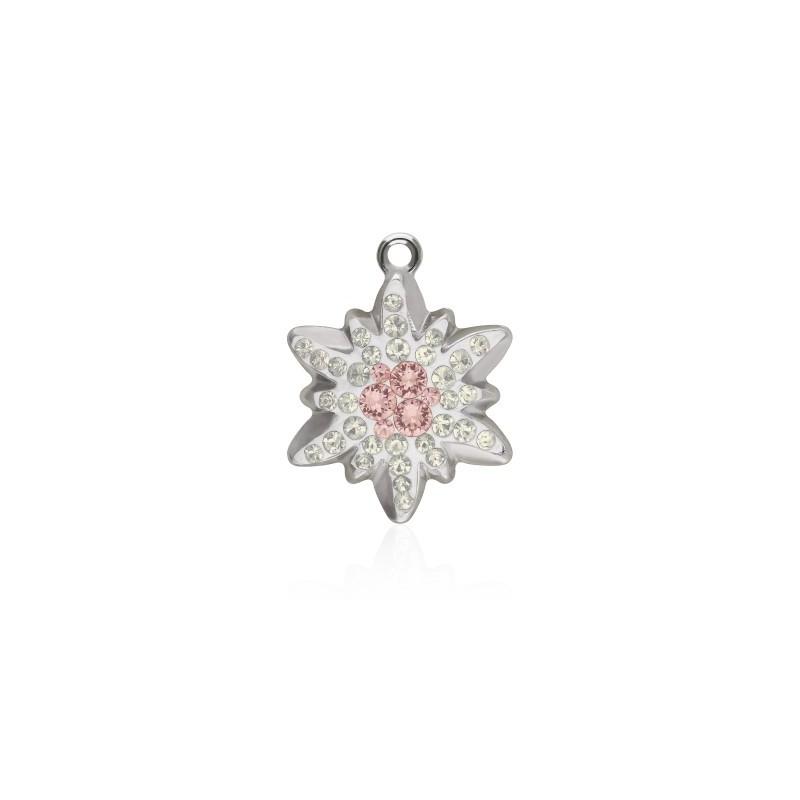 20MM Vintage Rose (319) Pavé Edelweiss Pendant 67442 SWAROVSKI ELEMENTS