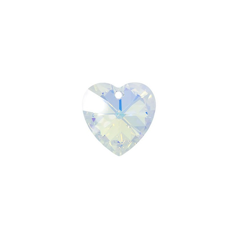 14.4x14MM Crystal AB (001 AB) XILION Heart Pendants 6228 SWAROVSKI ELEMENTS