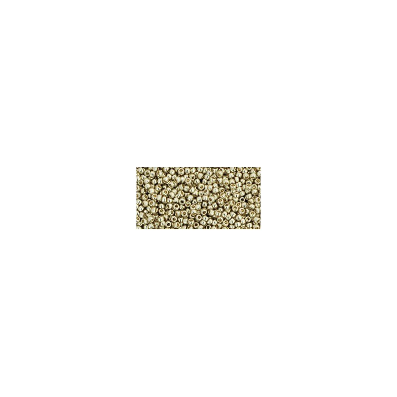 TR-15-PF558 Permanent Finish - Galvanized Aluminum TOHO Seed Beads