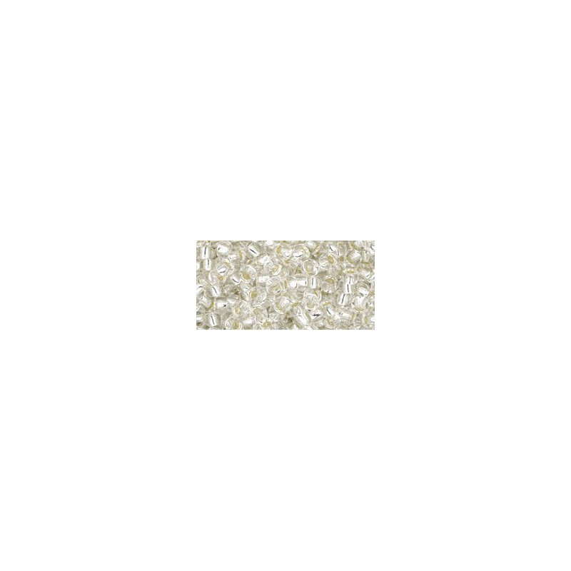TR-08-21 Silver-Lined Crystal TOHO SEEMNEHELMEID