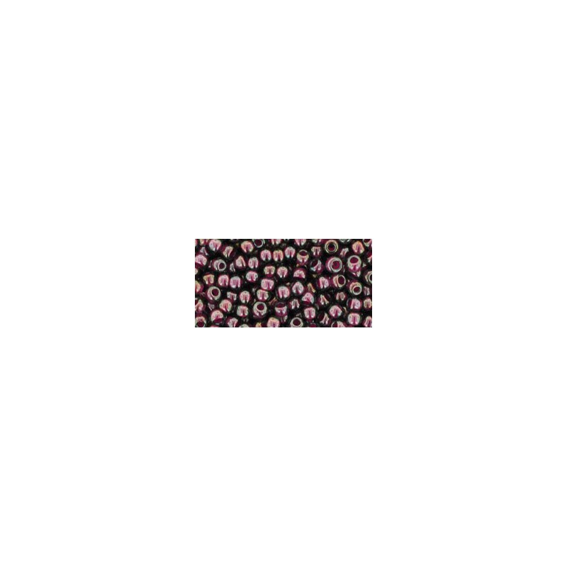 TR-08-1076 Inside Color Grey/Magenta Lined TOHO SEED BEADS