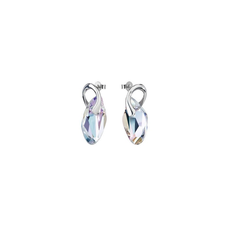 PRECIOSA Silver Earrings Ag925/Rh677943 Vitrail Light GRACEFUL STYLE