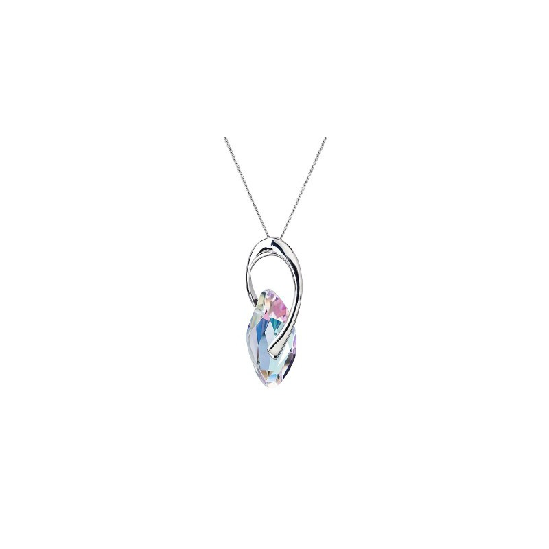 PRECIOSA Silver Pendant with chain Ag925/Rh677943 Vitrail Light GRACEFUL STYLE