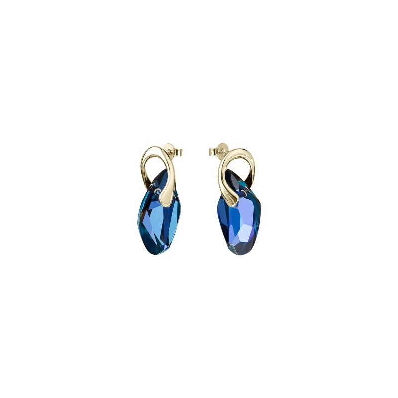 PRECIOSA Silver Gold Plated Earrings Ag925/Au6779Y64 Heliotrope GRACEFUL STYLE