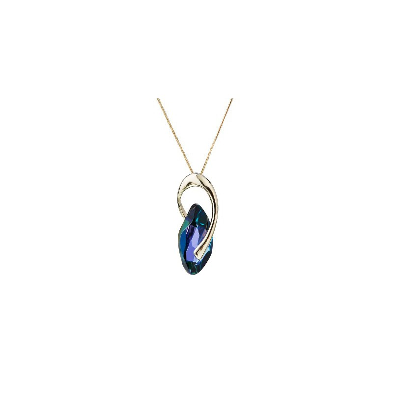 PRECIOSA Silver Gold Plated Pendant with chain Ag925/Au6778Y64 Heliotrope GRACEFUL STYLE