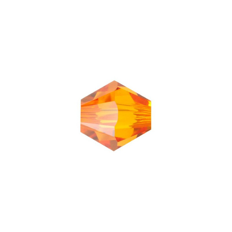 4MM Tangerine (259) 5328 XILION Bi-Cone Beads SWAROVSKI ELEMENTS