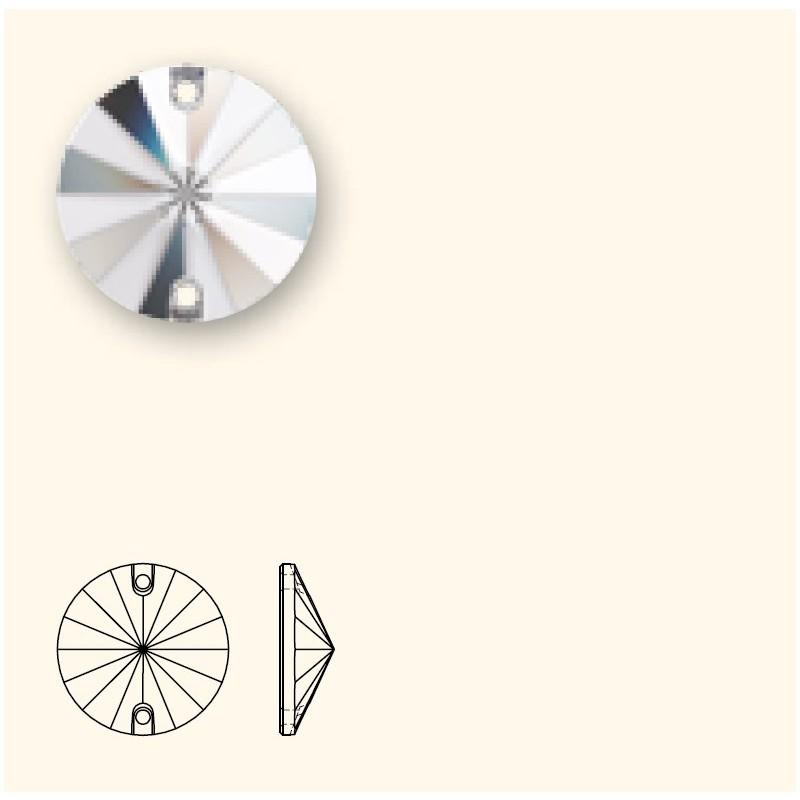 12MM Crystal AB F PFRO01 (001 AB) 3200/G Rivoli SWAROVSKI ELEMENTS