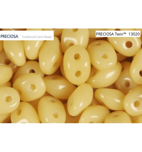 Twin-2RH-13020 Luster - Opaque Ivory Seed Beads