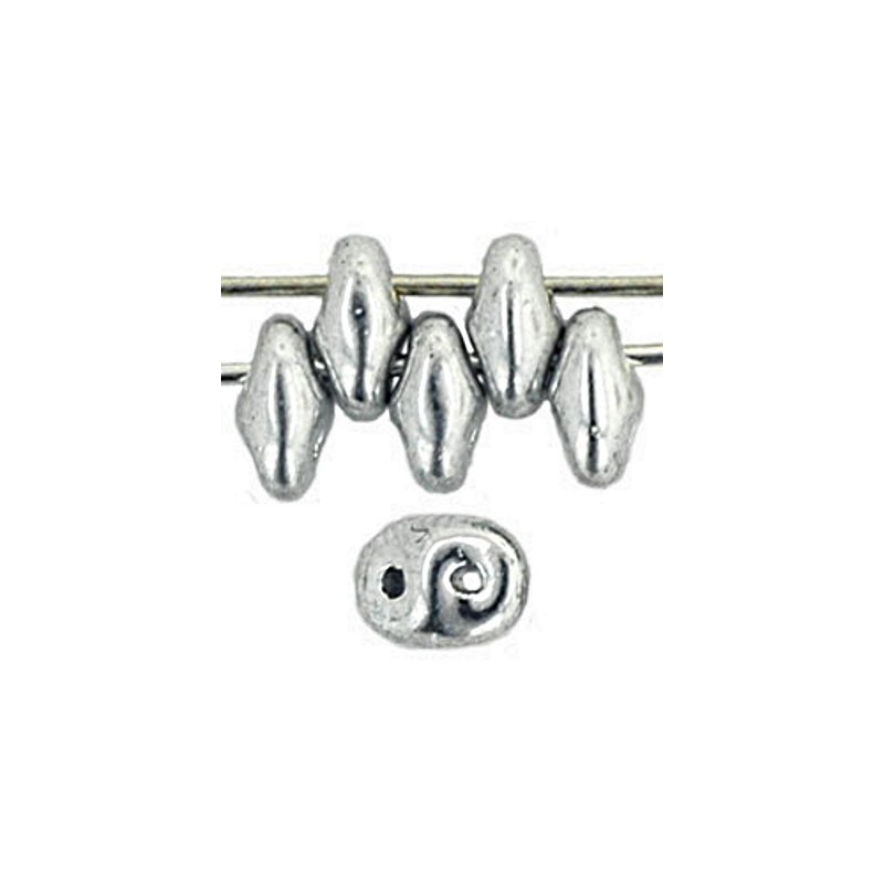 Twin-2RH-27000 Silver PRECIOSA-ORNELA Seed Beads