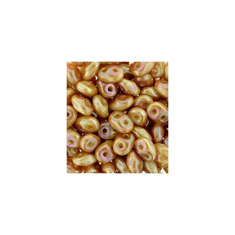 Twin-2RH-29123 White Apricot PRECIOSA-ORNELA Seed Beads