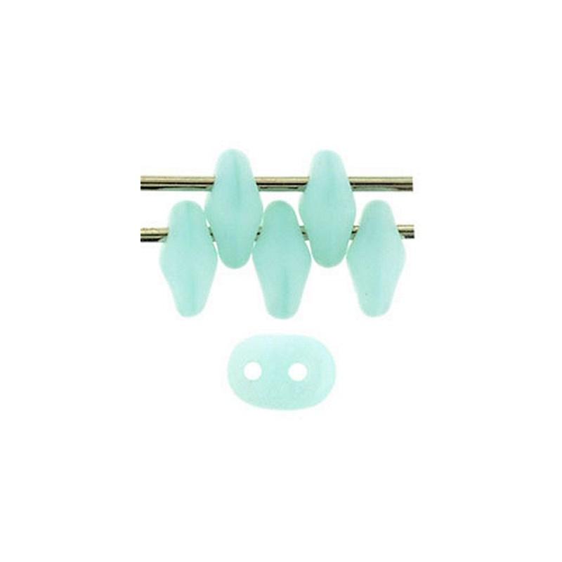 Twin-2RH-M61000 Matte - Milky Aquamarine PRECIOSA-ORNELA Seed Beads