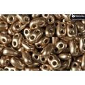 Twin-2RH-90215JT Gold Bronze PRECIOSA-ORNELA Seed Beads
