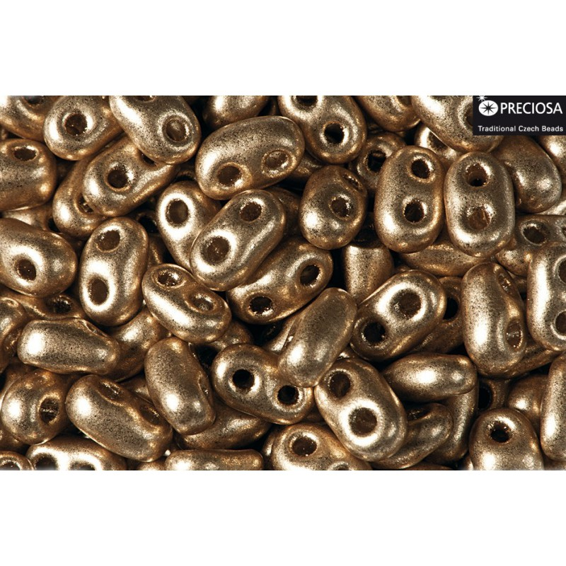 Twin-2RH-90215JT Gold Bronze PRECIOSA-ORNELA Бисер