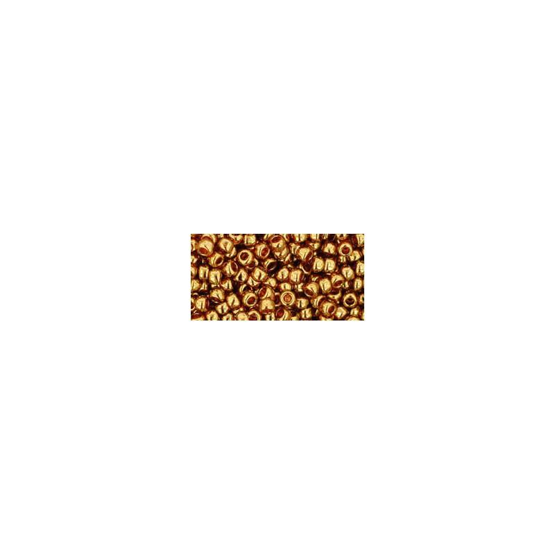 TR-08-421 Gold-Lustered Transparent Pink TOHO SEEMNEHELMEID