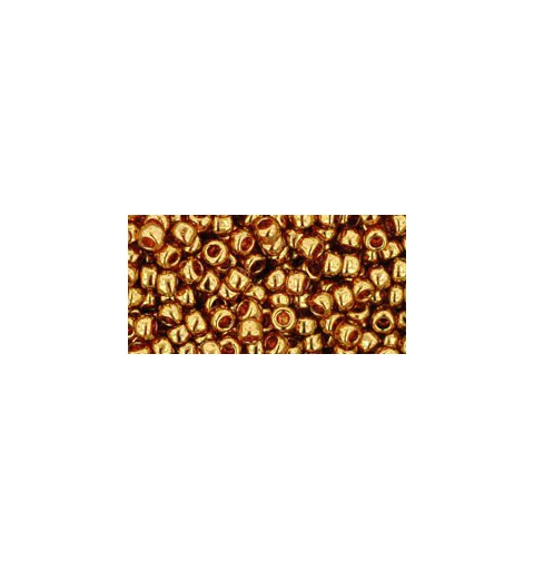 TR-08-421 Gold-Lustered Transparent Pink TOHO SEED BEADS