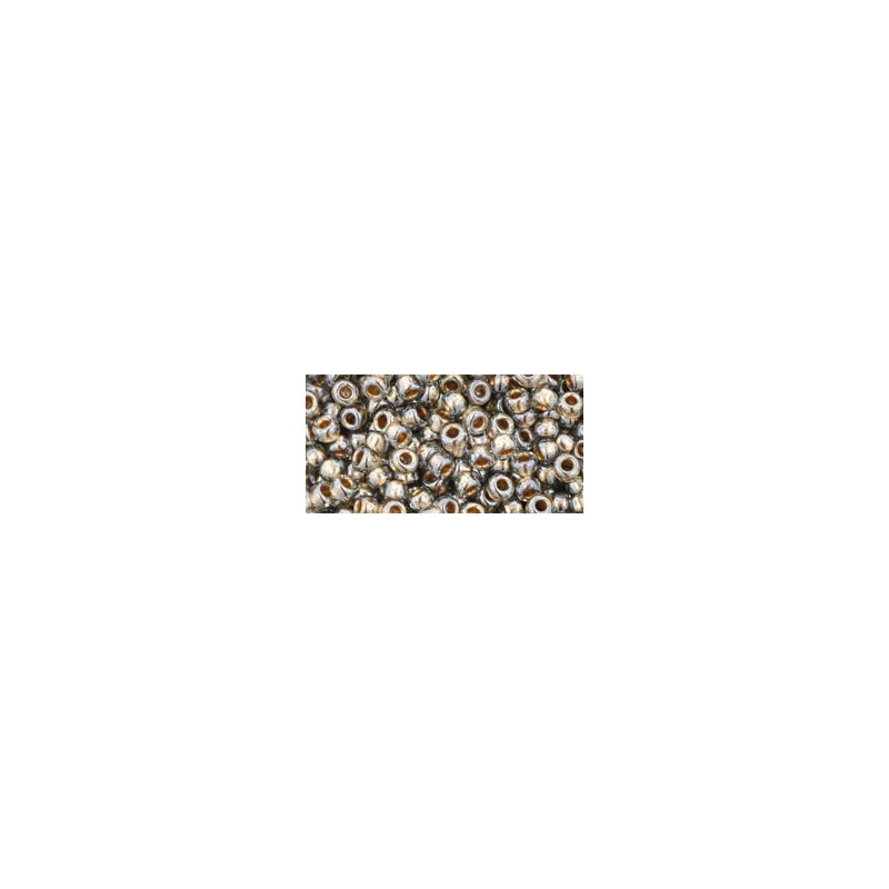 TR-08-993 Gold-Lined Black Diamond TOHO SEED BEADS