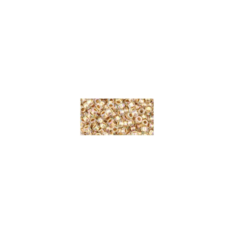 TR-08-994 Gold-Lined Rainbow Crystal TOHO SEEMNEHELMEID