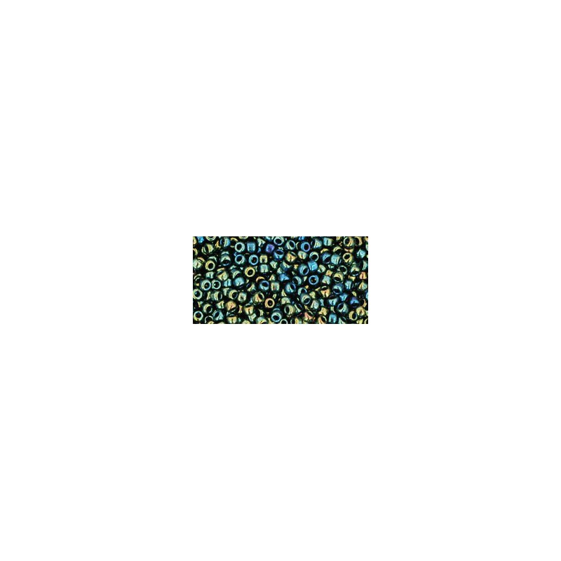 TR-11-84 Metallic Iris Green/Brown TOHO Seed Beads