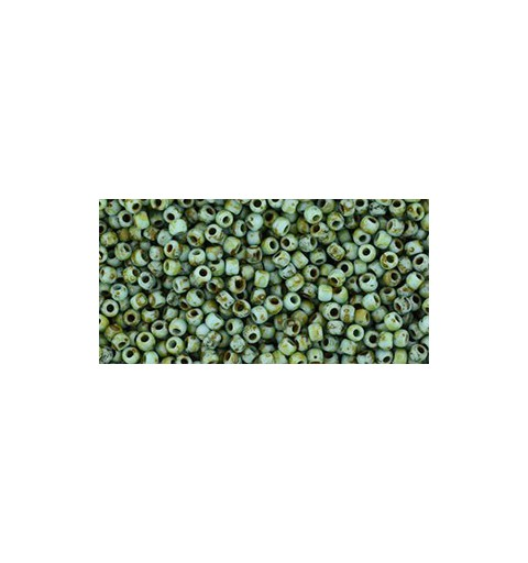 TR-11-Y307F HYBRID Frosted Turquoise Picasso TOHO Seed Beads