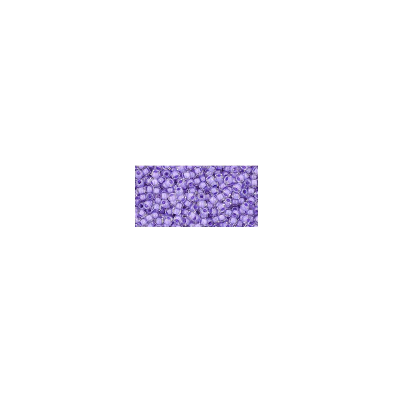 TR-11-966 Inside-Color Crystal/Purple Lined TOHO Seed Beads