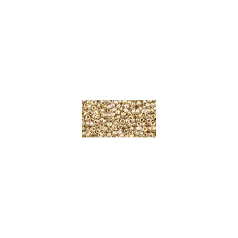 TR-11-989 Gold-Lined Crystal TOHO Seemnehelmed
