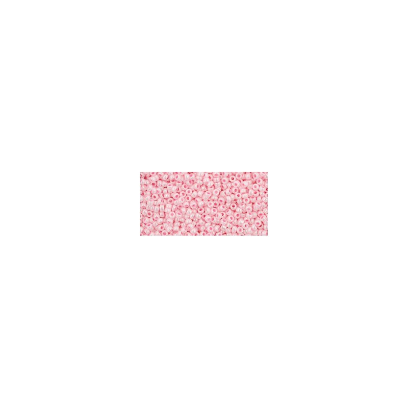 TR-15-126 Opaque-Lustered Baby Pink TOHO Seed Beads
