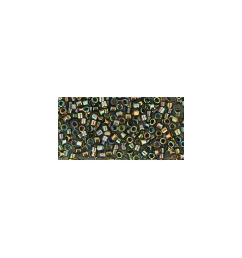 TT-01-999 Gold-Lined Rainbow Black Diamond TOHO Treasures Seed Beads