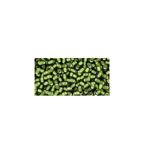 TR-11-37F Silver-Lined Frosted Olive TOHO Seed Beads
