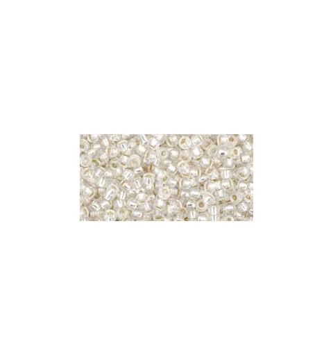 TR-11-2021 Silver-Lined Rainbow Crystal TOHO Seemnehelmed