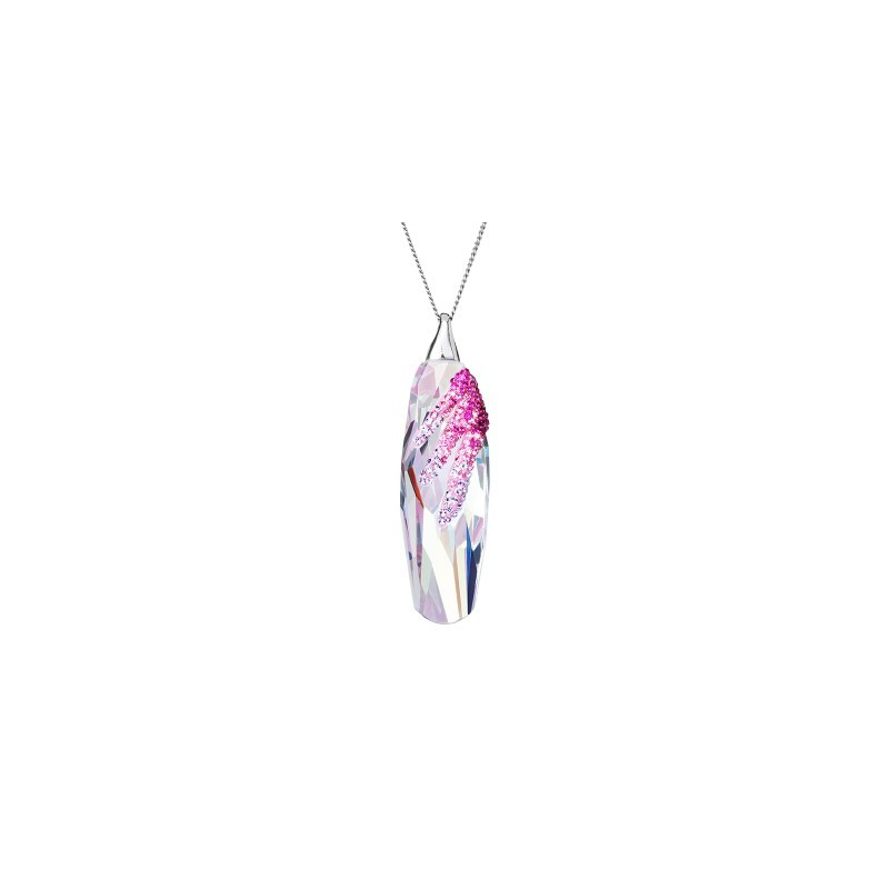 PRECIOSA Silver Pendant with chain Ag925/684555 Fuchsia Perfectionné STYLE