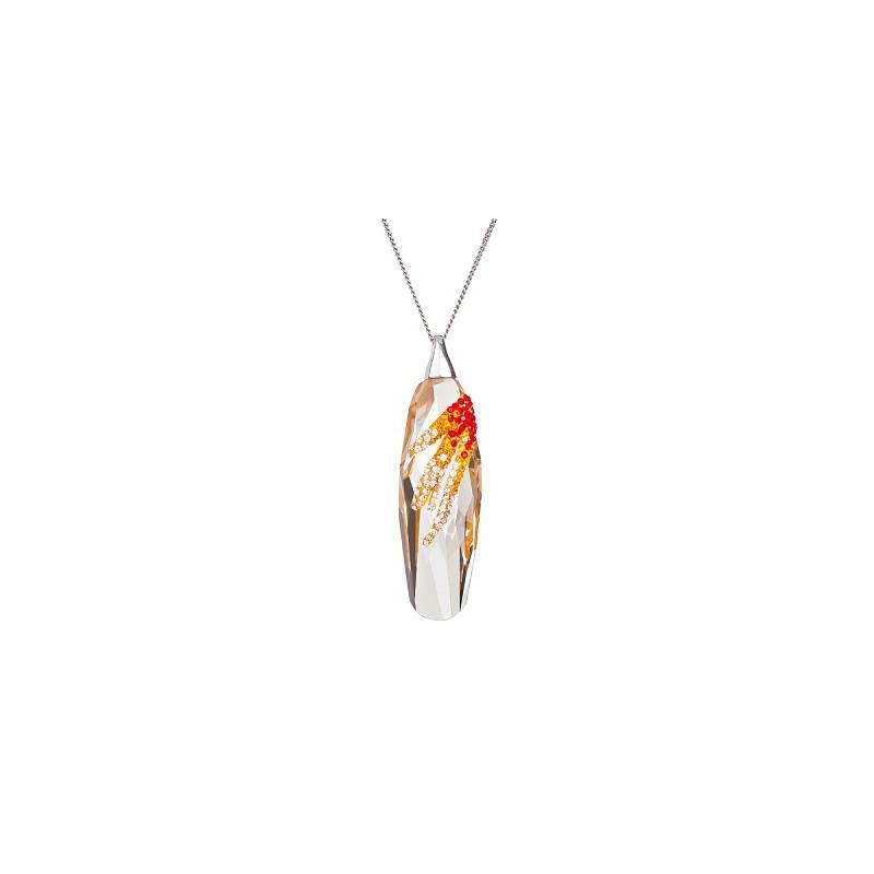 PRECIOSA Silver Pendant with chain Ag925/Rh684557 Lt. Siam Perfectionné STYLE