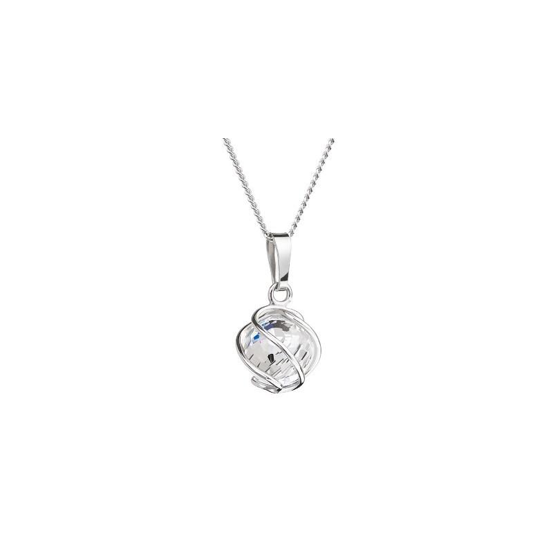 PRECIOSA Серебряная Подвеска с цепочкой Ag925/Rh671542 Crystal AB Romantic BEADS STYLE