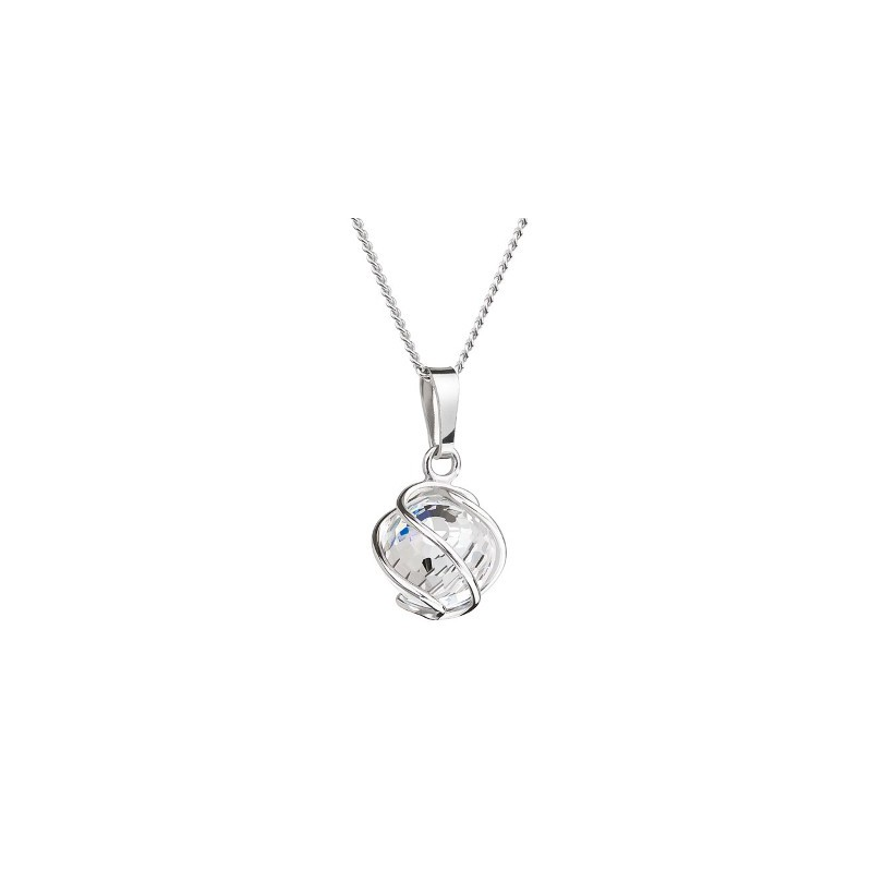 PRECIOSA Silver Pendant with chain Ag925/Rh671542 Crystal AB Romantic BEADS STYLE