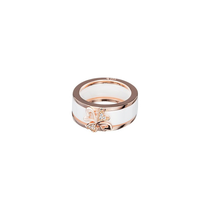 PRECIOSA Silver Gold Plated Ring Ag925/Au5147P00 White Vogue STYLE