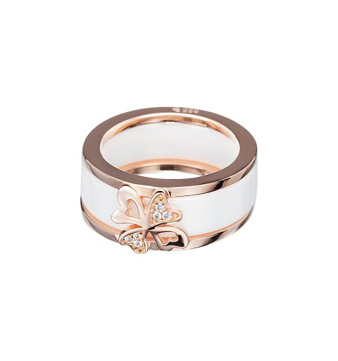PRECIOSA Silver Gold Plated Ring Ag925/Au5147P00BC White Vogue STYLE