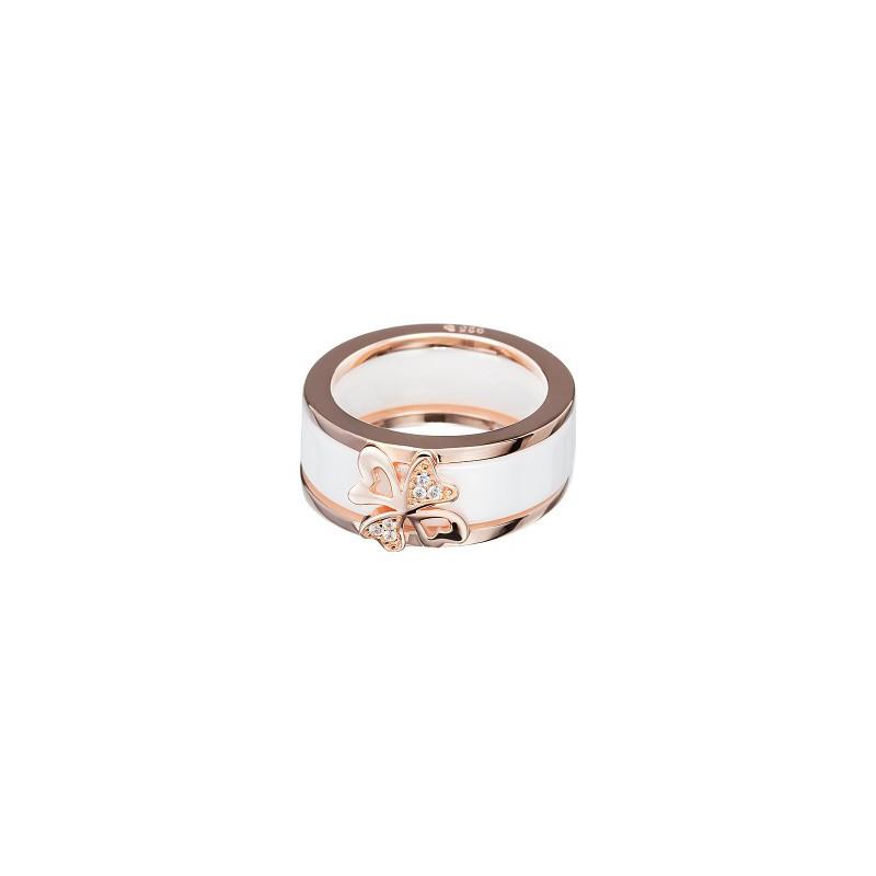 PRECIOSA Hõbe Kullatud Ring Ag925/Au5147P00 White Vogue STYLE