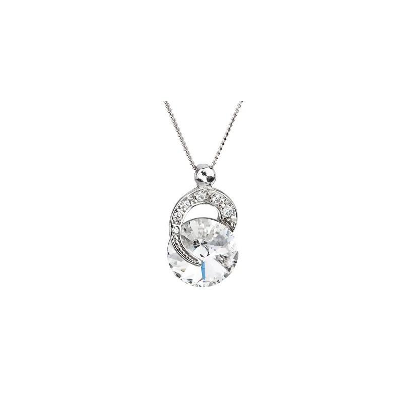 PRECIOSA Серебряная Подвеска с цепочкой Ag925/Rh676600 Crystal Gentle Beauty STYLE