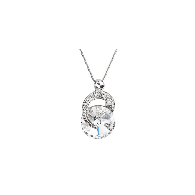 PRECIOSA Silver Pendant with chain Ag925/Rh676600 Crystal Gentle Beauty STYLE