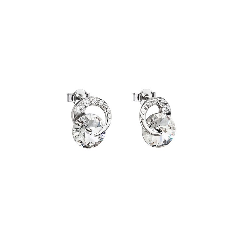 PRECIOSA Серебряные Сережки Ag925/Rh676700 Crystal Gentle Beauty STYLE