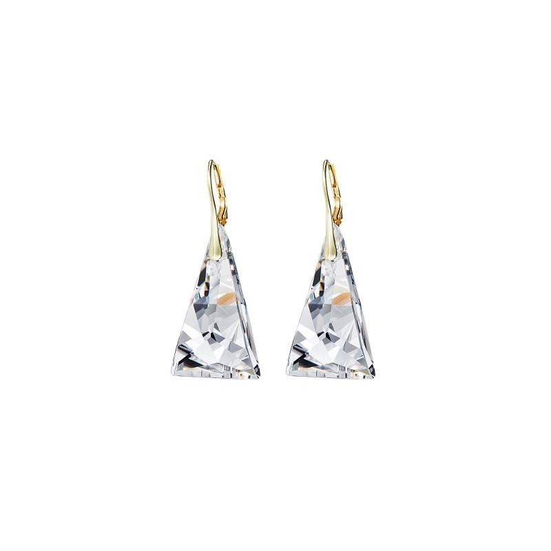 PRECIOSA Серебряная Позолоченная Подвеска с цепочкой Ag925/Au6843Y00 Crystal Pyramid STYLE