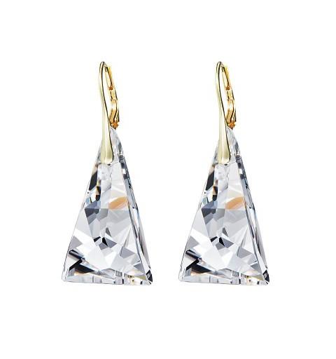 PRECIOSA Hõbe Kullatud kõrvarõngad Ag925/Au6843Y00 Crystal Pyramid STYLE