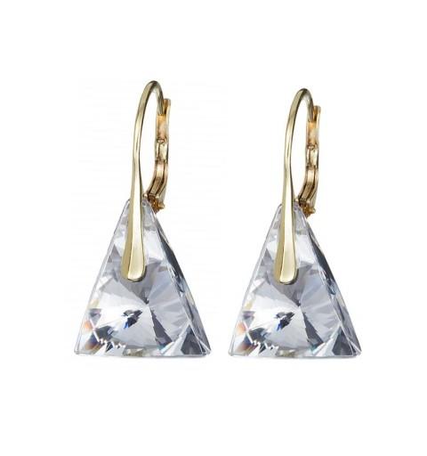 PRECIOSA Hõbe Kullatud kõrvarõngad Ag925/Au6844Y00 Crystal Pyramid STYLE