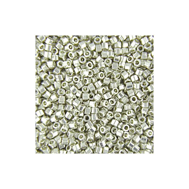 DBC-0035 GalvanizedSilver Miyuki DELICA Hex Cut 11/0 Seed Beads