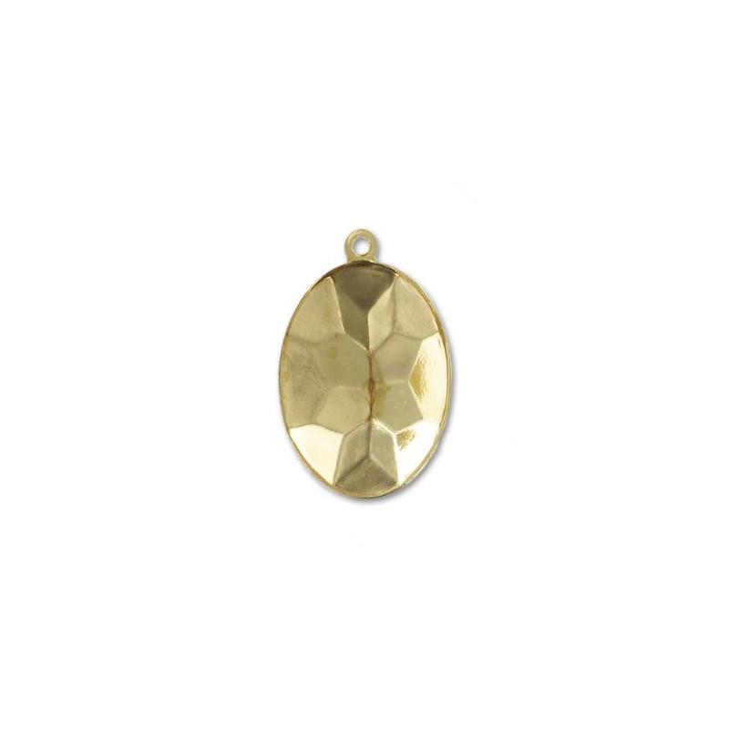 18x13mm Оправа для Сваровски Овал 4120 цвет Золота с кольцом