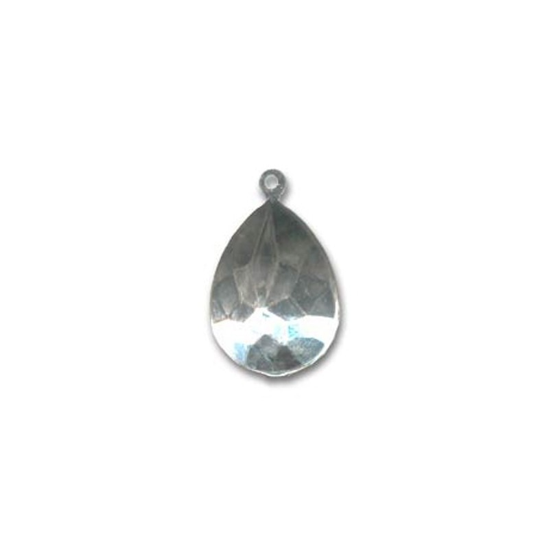 18x13mm Setting for Swarovski Pear-Shaped 4320 Rhodium colored with eye