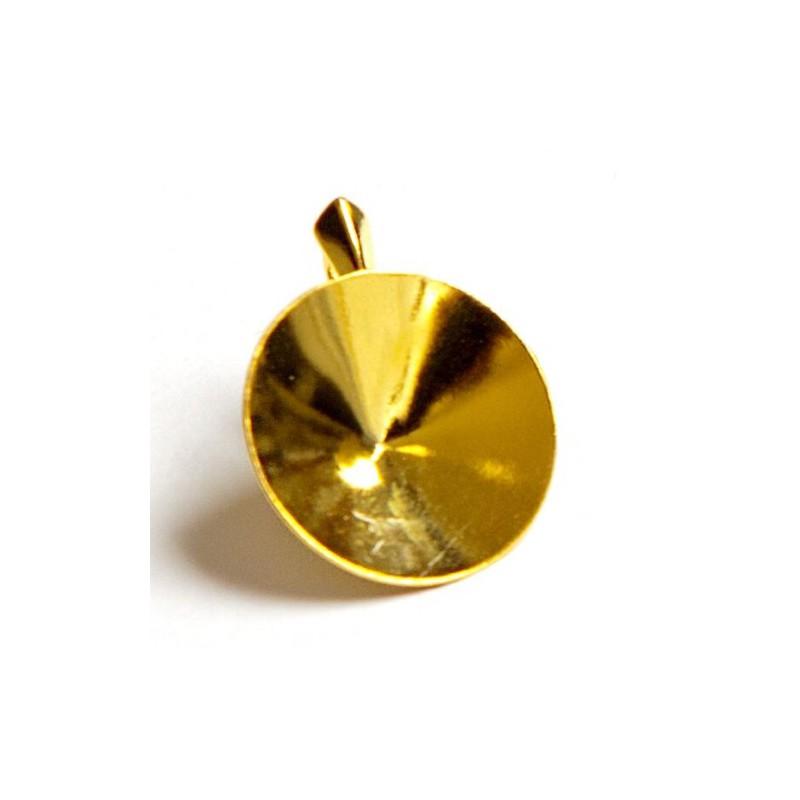 For Rivoli 1122 18mm Swarovski Silver Gold Plated pendants hanging part