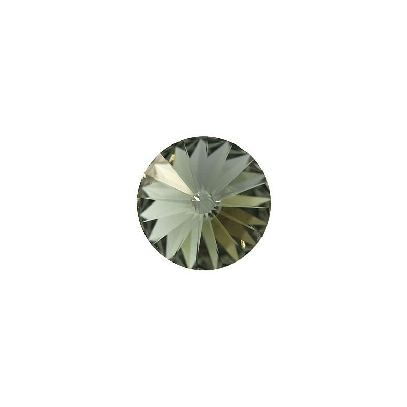 12MM Black Diamond F (215) 1122 Rivoli Chaton SWAROVSKI ELEMENTS